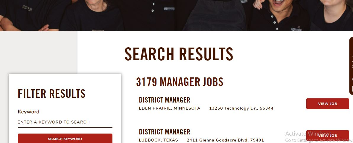 Chipotle Mexican Grill Job Application Online